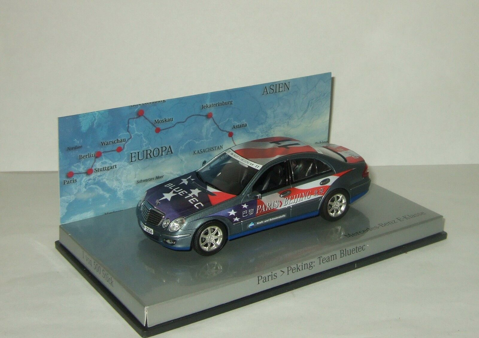 1 43 Minichamps Mercedes Benz W211 Paris Beijing Blautec team 2007 B66962267