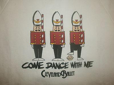KüHn Vtg 80er Jahre 90er Cleveland Ballett Nussknacker Sweatshirt Weihnachten SchöNer Auftritt