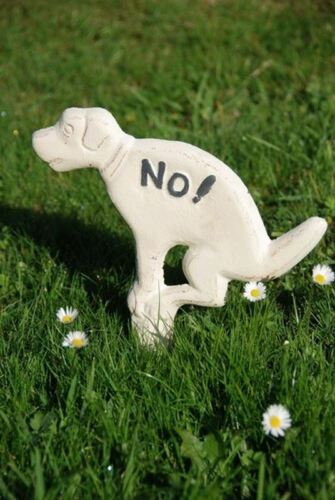 /'No fouling/' Cast Iron Dog Sign for Your Garden