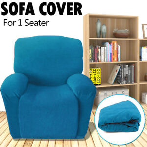 1 Seater Recliner Sofa Cover Couch Protector Stretch Chair Slipcover