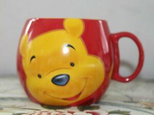 Winnie the Pooh Patchwork Barrel Mug Red & Yellow Disney Free postage 2
