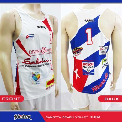 FOOTEX Canotta Beach Volley CUBA Made in Italy Sconti per Squadre o Società