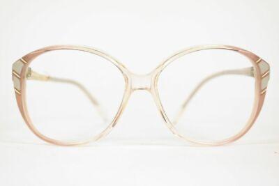 Vintage Lancel Paris 267 115 55[]18 140 Rosa Weiß Gold Oval Brille Nos Erfrischung