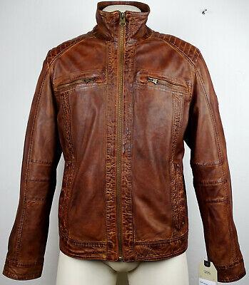 CAMEL ACTIVE 5222 Leather Jacket Lederjacke Herren Braun Gr.48 NEU mit ETIKETT | eBay