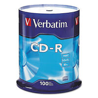 Verbatim Cd-r Discs 700mb/80min 52x Spindle Silver 100/pack 94554 on sale