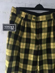 Versace-Versus-Classic-Tartan-Trousers-Size-UK
