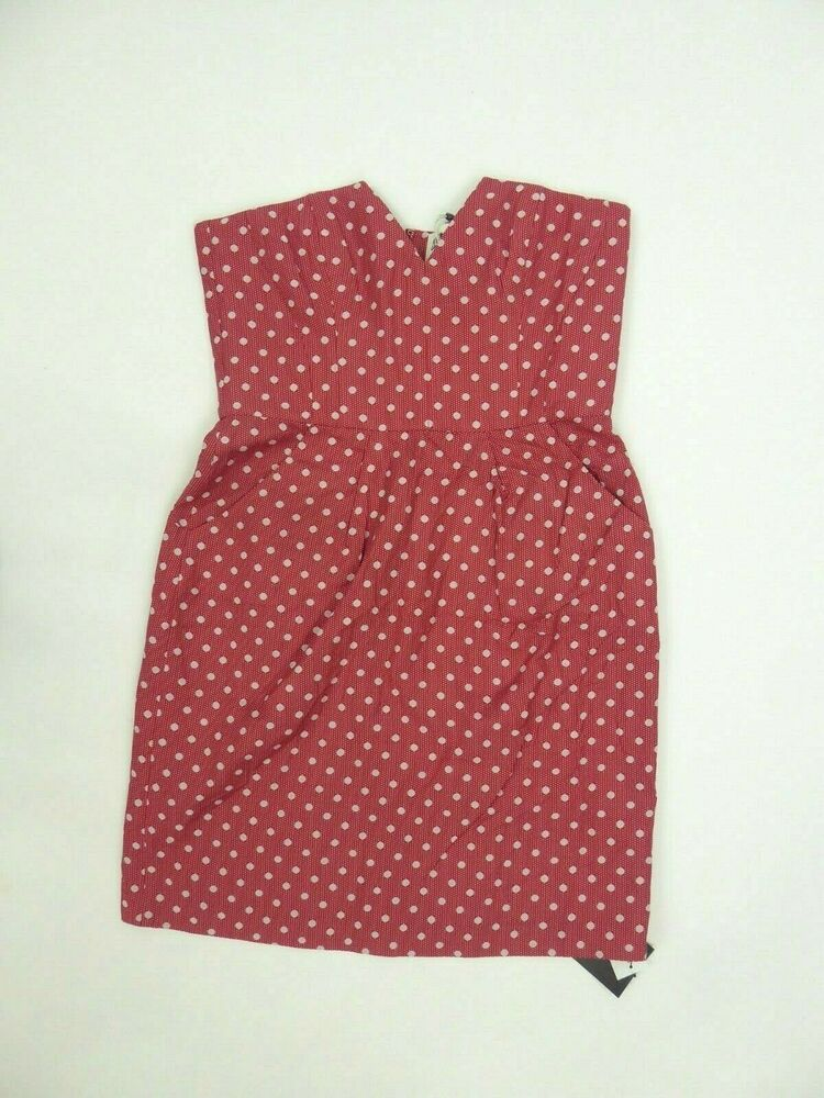"Alice By Temperley Mini Polka Dot ""scarlet"" Robe En Soie Taille Uk 12 Bnwts"