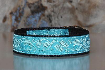 Martingale dog collar greyhound wolfhound whippet terrier fabric half choke