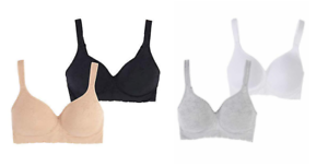 541b738e3 Image is loading CAROLE-HOCHMAN-SEAMLESS-COMFORT-BRA-WIRE-FREE-MOLDED-