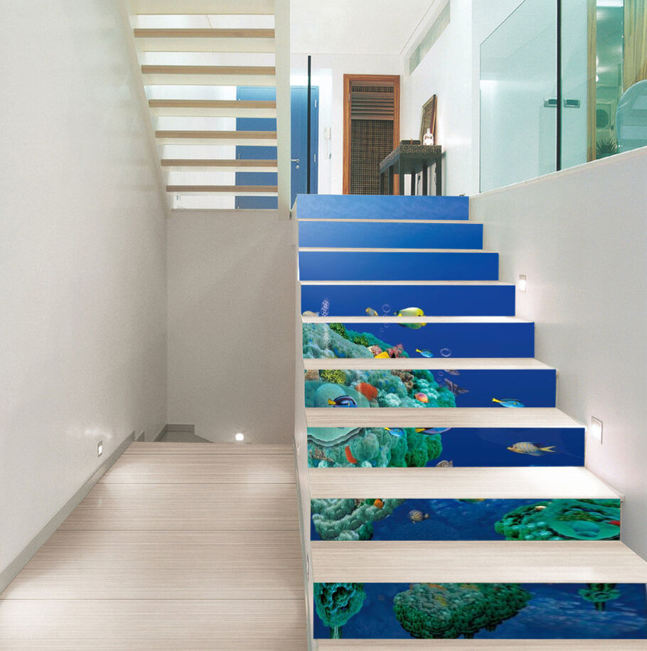 3D Schön Ozean 639 Stair Risers Dekoration Fototapete Vinyl Aufkleber Tapete DE