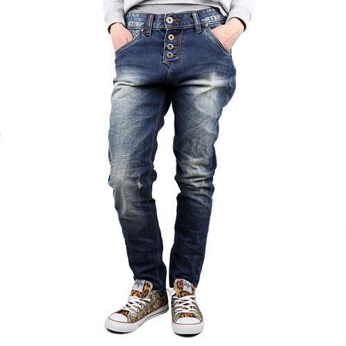 M.O.D Iliana Boyfriend Jeans Damen Stretchjeans blau 14108