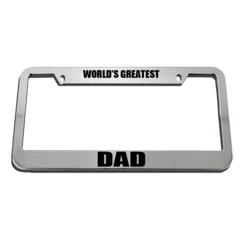 World/'S Greatest Dad License Plate Frame Tag Holder
