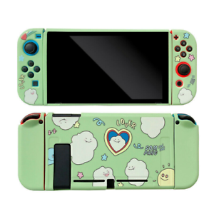 For Nintendo Switch Cute Cartoon Cloud Smiley Case Skin Shell Protective cover