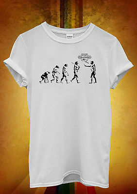 Stop Following Me Evolution Men Women Unisex T Shirt Tank Top Vest 647