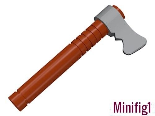 Weapon Tomahawk with Flat Silver Blade Reddish Brown 2 NEW LEGO Minifigure