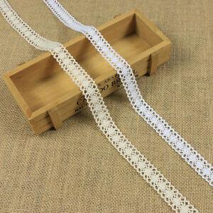 12m-Retro-Ivory-Cream-Lace-Trim-Ribbon-Bridal-Wedding-Craft-Cotton-Crochet-DIY