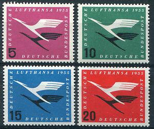Bund-205-208-sauber-postfrisch-Flugdienstbeginn-Lufthansa-BRD-1955-MNH