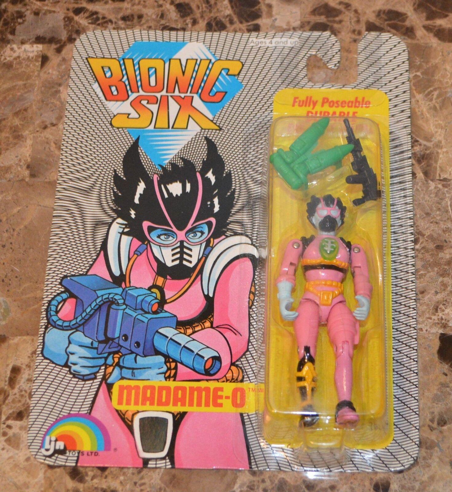 Vintage 1986 Ljn Bionic Seis Madame-O Figura de Acción Die-Cast