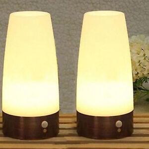 tischleuchte nachttischlampe bewegungssensor tischlampe pir motion nachtleuchte ebay. Black Bedroom Furniture Sets. Home Design Ideas
