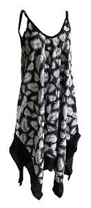 de d'ᄄᆭtᄄᆭ et plage 14 noiresblanches Avec Uk robe feuilles taille 16 nO0wkP