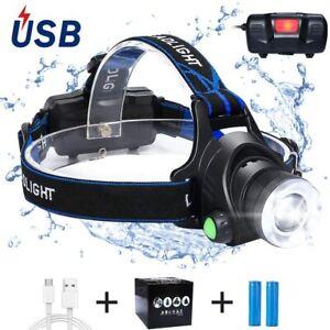 1500LM T6 LED Vélo Lumière USB Rechargeable Lampe Frontale Torche Super Brillant