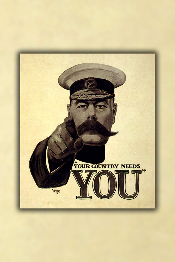 Affiche, RecruteHommes Plusieurs Tailles; Lord Kitchener pour British Army RecruteHommes Affiche, t Durant 1032fd