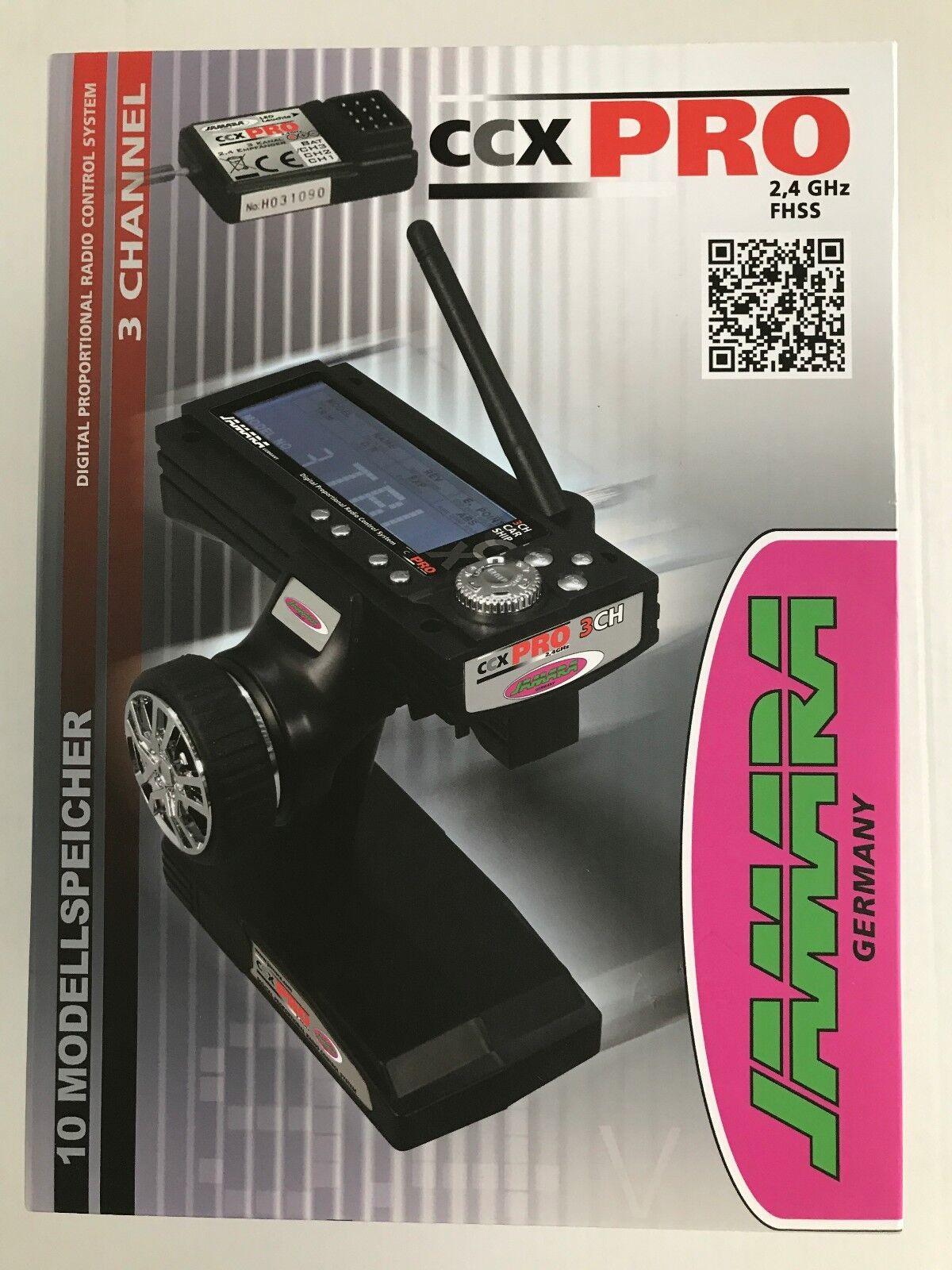 +++ Jamara CAR telecomando CCX 2,4 Pro 2,4ghz Set 3 canali 061200