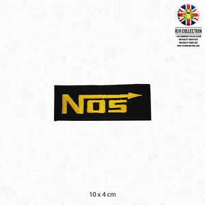 NOS Car Kit Brand Logo Patch Iron On Patch Sew On Embroidered Patch