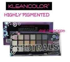 24 shade KleanColor COOL Neutrals Eyeshadow Palette black purple beige natural
