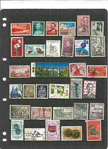 TOP NEEWS :beau petit lot de timbres ESPAGNE .3 SCANS.++++