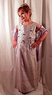 Girls Formal Dress Peaches 'n Cream Lilac Silk Taffeta with Shawl Size 4T NWT