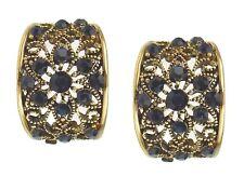 Ohrringe gold blau Blumen Ohrstecker by Ella Jonte new arrival fashion earrings