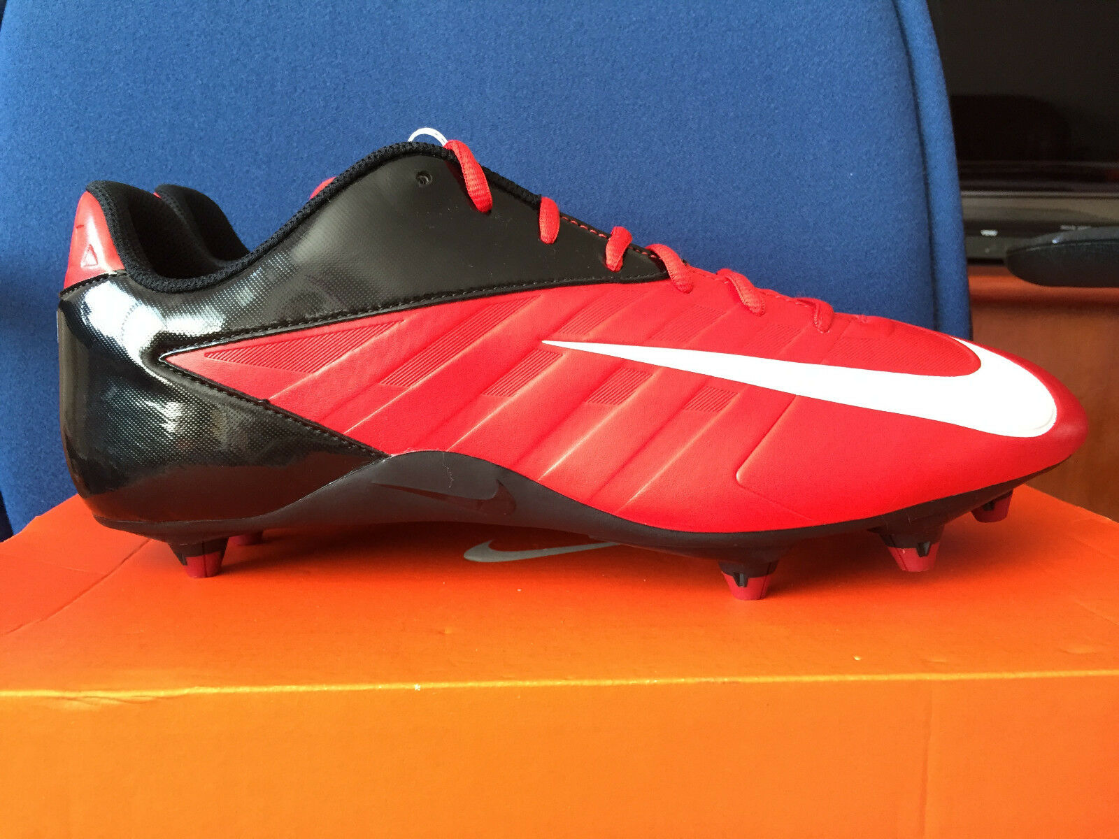Mens Nike Vapor Strike D 3 Low, NFL Red Black Football Cleats 511336-610 Price reduction  Cheap women's shoes women's shoes