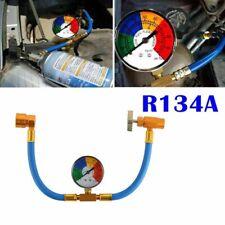 1pcs Car Air Conditioning Refrigerant Recharge Gas Pressure Gauge R134A Hose Val