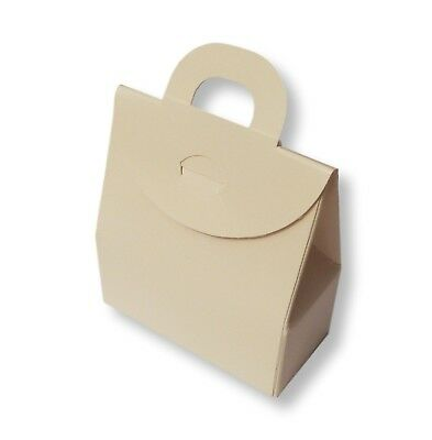 HEN GIFT ETC WEDDING FAVOUR 10 SMALL IVORY BOX BAGS BALLOON WEIGHT