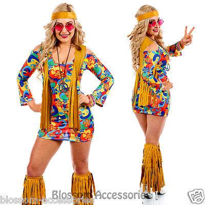 K13 60s 70s Go Go Retro Hippie Dancing Groovy Party Disco Fancy Dress Up Costume