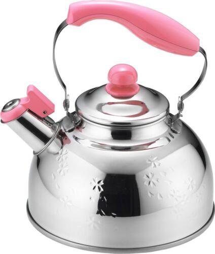 Kettle Stainless Steel Japan Teakettle Whistle Whistling Sakura Pink 2.5L SJ1902
