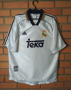 lowest price c6bed b9347 Details about Real Madrid Home football shirt 1998 - 2000 size M jersey  soccer Adidas