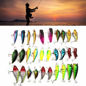 Lot 30pcs Trout Spoon Metal Fishing Lures Spinner Baits Bass Tackle Fish