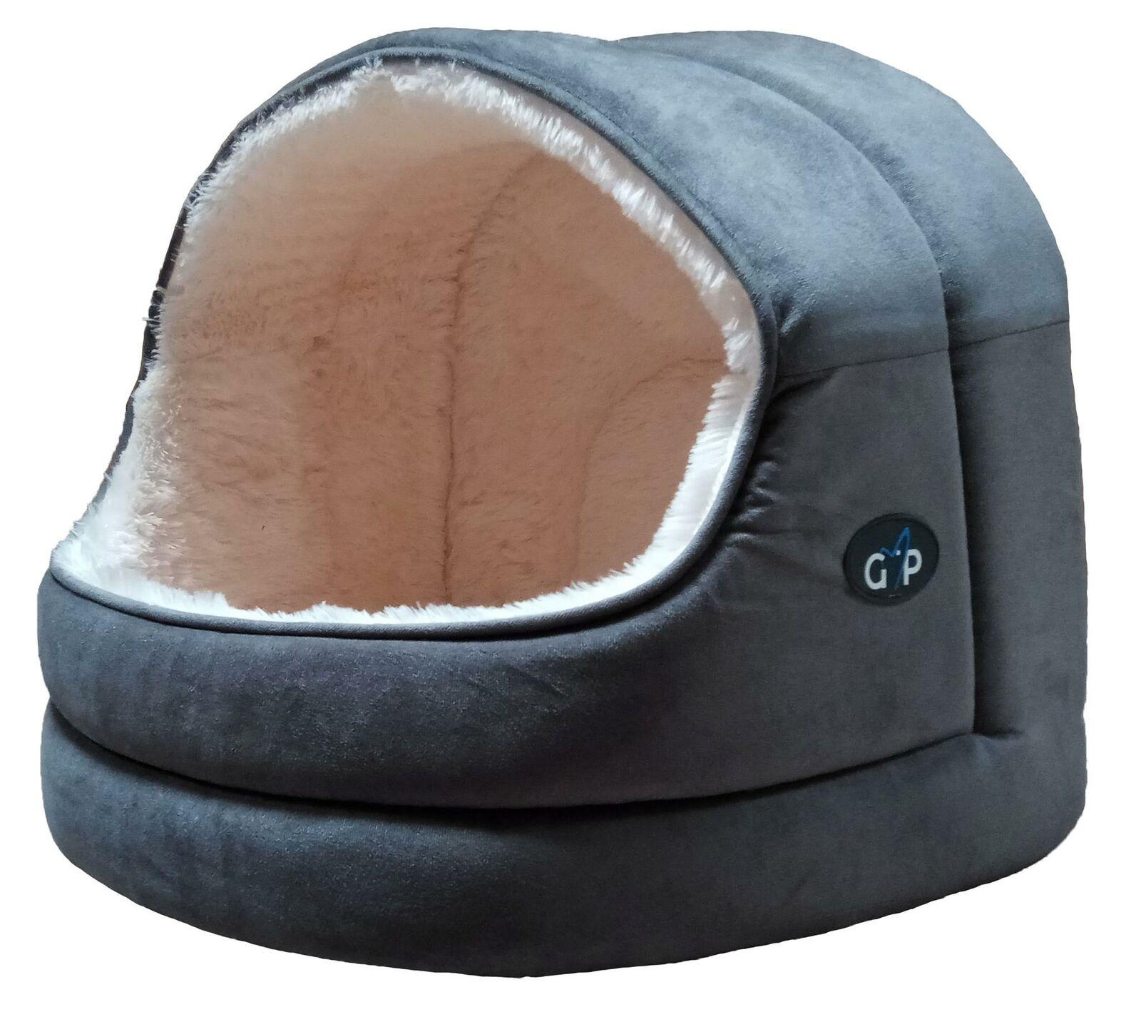 Nordic Hooded Bed Large grau
