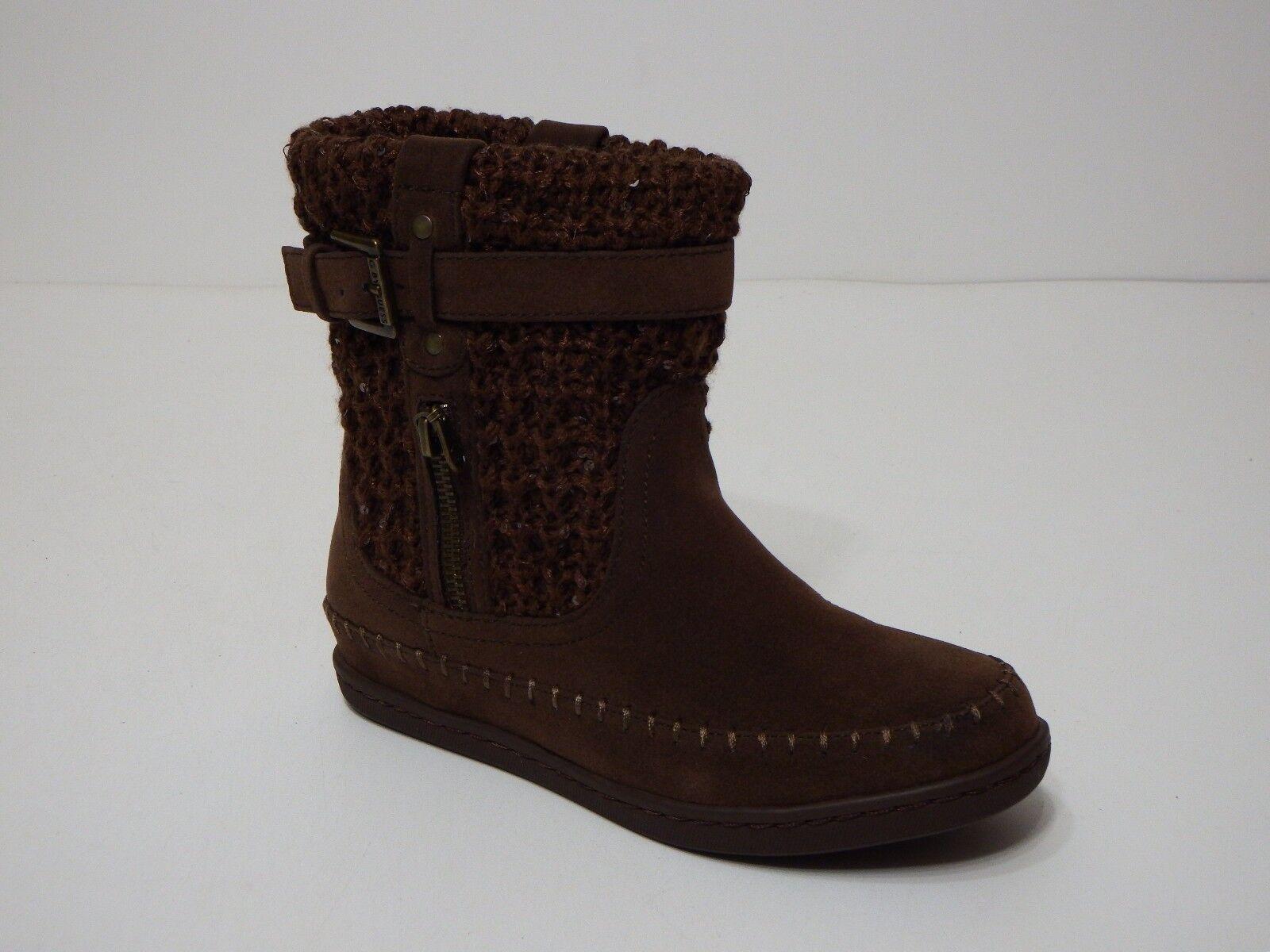 Guess Stiefel Damenss Damenss Damenss 6 M schuhe  G Ruddy Braun multi fabric sweater ankle f66953
