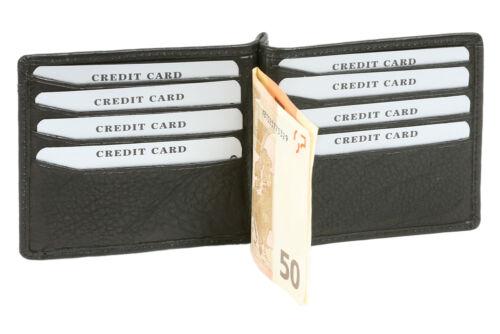 Dollar Clip Geldscheinklammer Money Clip Geldklammer LEAS in Echt-Leder schwarz