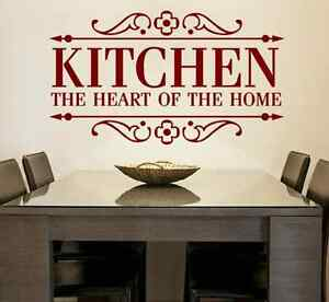 Kitchen The Heart Of The Home Vinyl Wall Decal Quote Home
