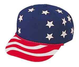 USA US Flag America American Patriotic Stars 5 Panel Baseball Hats ... 62e15bf05f2
