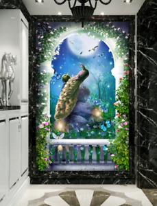 3D Flores De Pavo Real 53 Impresión De Parojo Papel Pintado Mural de piso 5D AJ Wallpaper Reino Unido Limón