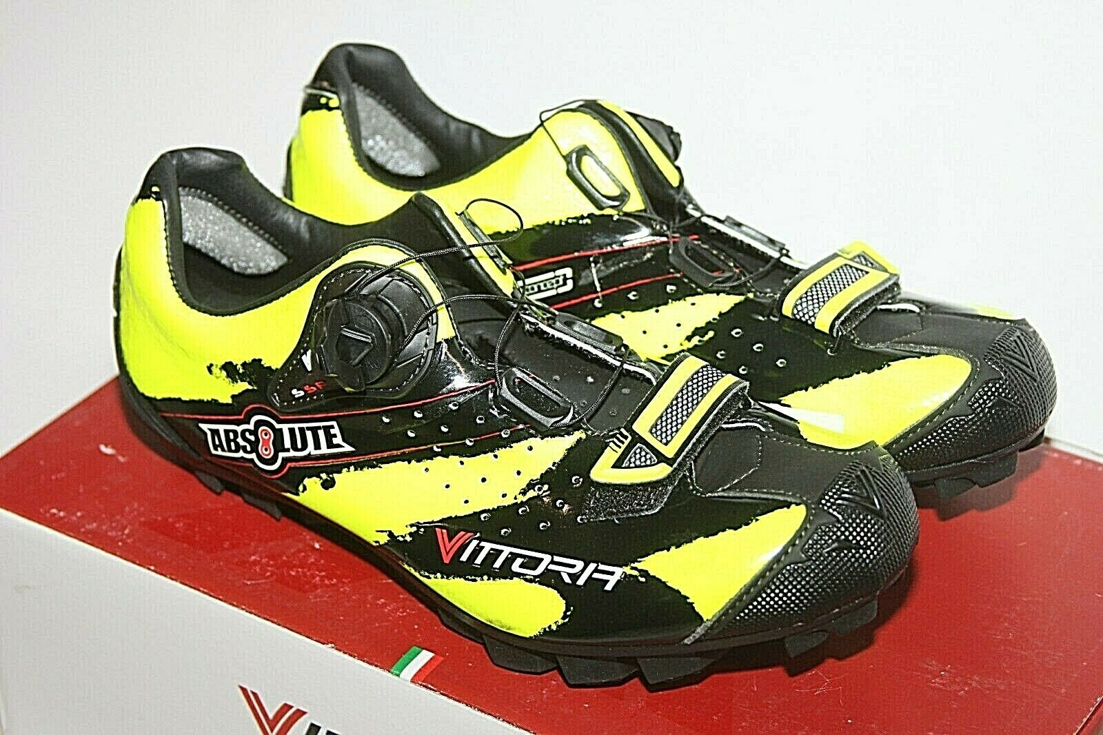 Men's Vittoria Absolute  MTB shoes Yellow Cycling shoes  Sz 40.5 NIB BOA  wholesale price and reliable quality