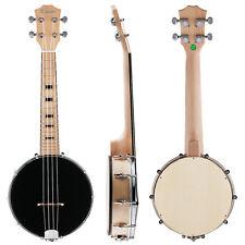 Kmise 4 String Banjo Ukulele Konzert 23 Zoll Ahorn Holz Musikinstrumente