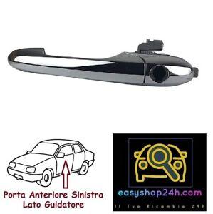 MANIGLIA-ESTERNA-PER-FIAT-500-2007-2014-APRI-PORTA-ANTERIORE-SINISTRA-CROMATA