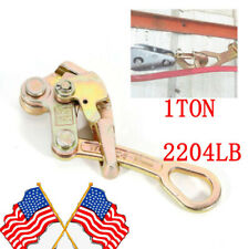 Cable Wire Rope Grip Puller Tensioner Insulated Wire Grip Clamp 1 Ton2204 Lb