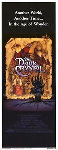 THE DARK CRYSTAL Movie POSTER 14x36 Insert Jim Henson Frank Oz Kathryn Mullen